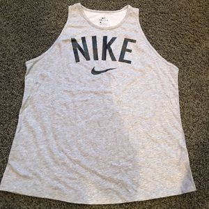 Nike Gray Tank Top women's size large new no tags